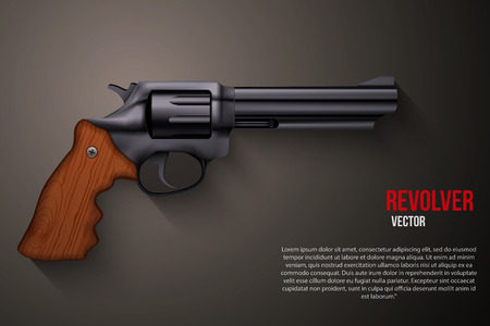 Background of Black gun metal Revolver Vector Illustration Illustration
