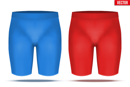 perspiration: Base layer compression trousers of thermo fabric. Sample typical technical illustration. Red and blue color. Vector Illustration isolated on white background Illustration