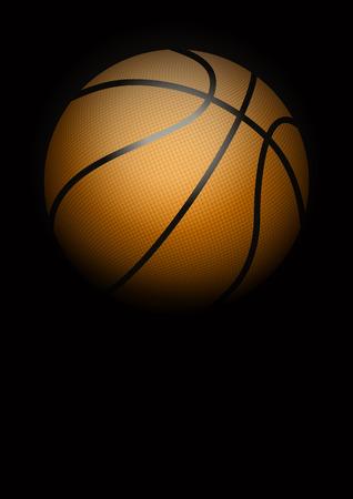 tournament chart: Dark Background of basketball sports. Symbol of ball. Realistic Vector Illustration. Illustration