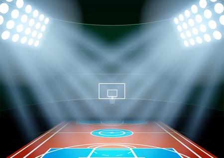 Contexte horizontale pour des affiches nuit multisports stade à l'honneur. Illustration vectorielle modifiable. Banque d'images - 45713197