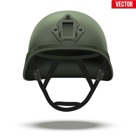 rapid: Military tactical helmet of rapid reaction. Green color. Army and police symbol of defense. illustration Isolated on white background.