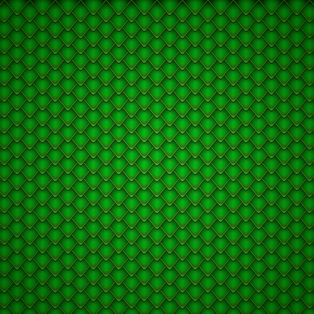 snakeskin: Reptile Green Scales Pattern. Vector Illustration Background.
