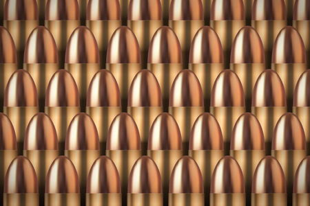 Revolver Bullets background Neat rows of cartridges