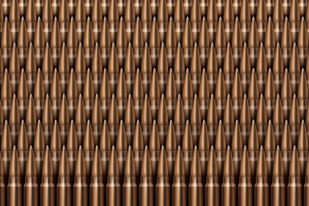Rifle Bullets background Neat rows of cartridges Stock Photo