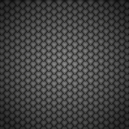 reptile: Reptile Black Scales Pattern. Vector Illustration Background.