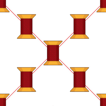 spool: Spool of thread texture seamless pattern. Vector Illustration