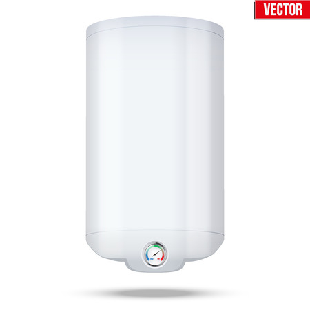 thermodynamic: Water heater Boiler. Editable Vector Illustration isolated on white background.