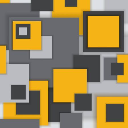 mondrian: Background Unusual modern material square design. Abstract Illustration. Illustration
