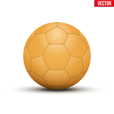 ballsport: Handball Ball Orange. Sport Equipment. Editable Vector illustration Isolated on white background.