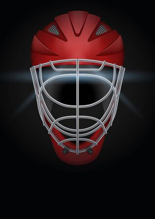 Dark Background of hockey hockey sports. Symbol of ball. Realistic Vector Illustration.