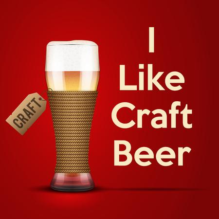bier: Vector Illustration I like Craft beer. For the menu, pubs, bars and restaurants.