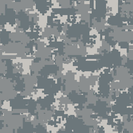 digitization: Digital pixel camouflage seamless patterns. Vector Texture Illustration isolated on white background.