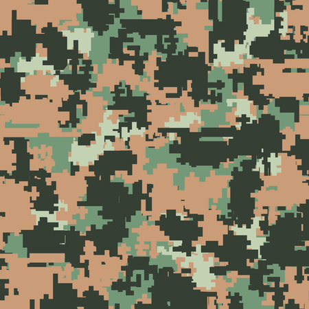 usp: Digital pixel camouflage seamless patterns. Vector Texture Illustration isolated on white background.
