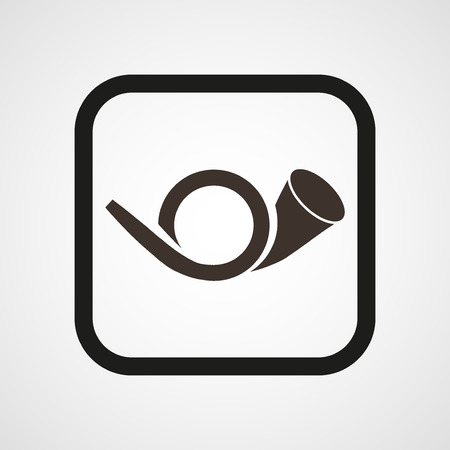 Postman horn Icon Flat Simple Vector illustration