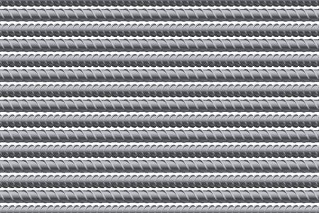 welded: Rebars pattern background. Reinforcement steel for building. Vector illustration Isolated on white background.