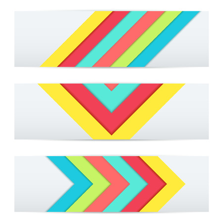Colorful Banner of Unusual modern material design. Flat geometric style. Abstract Vector Illustration.