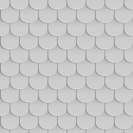 covering cells: Shingles roof seamless pattern. Gray color. Classic style. Vector illustration