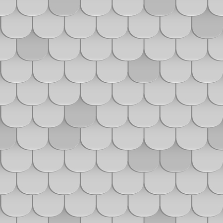 Shingles roof seamless pattern. Gray color. Classic style. Vector illustration
