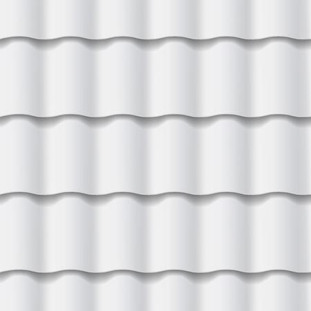瓦屋根のシームレスなパターン。グレー色です。古典的なスタイルです。ベクトル図