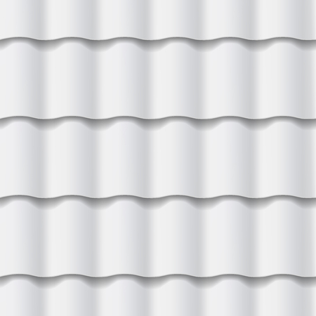 Tiled roof seamless pattern. Gray color. Classic style. Vector illustration
