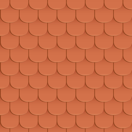 covering cells: Shingles roof seamless pattern. Orange color. Classic style. Vector illustration Illustration