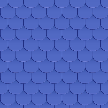 roof shingles: Shingles roof seamless pattern. Blue color. Classic style. Vector illustration