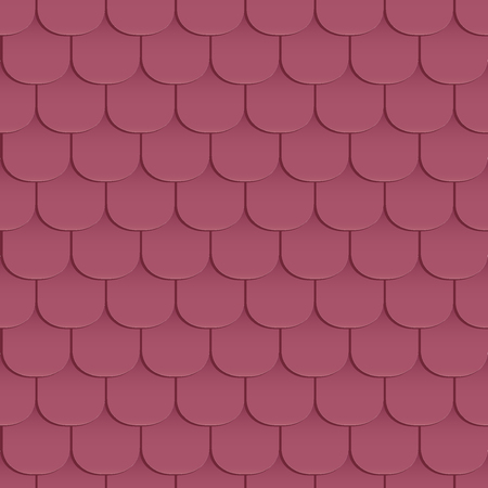 covering cells: Shingles roof seamless pattern. Violet color. Classic style. Vector illustration