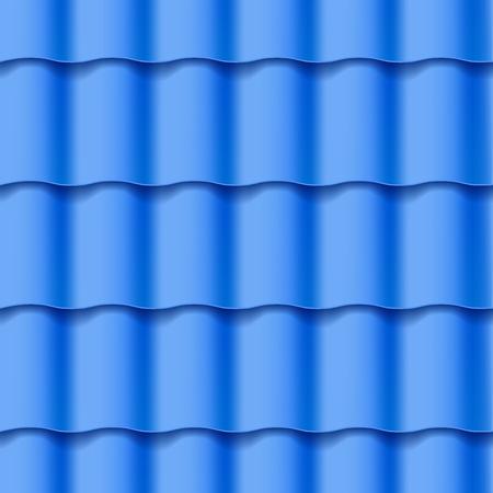 Dachówka bez szwu. Niebieski kolor. Klasyczny styl. Ilustracji wektorowych