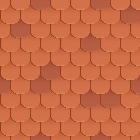鉄片は屋根のシームレスなパターンです。オレンジ色です。古典的なスタイルです。ベクトル図