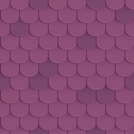 roof shingles: Shingles roof seamless pattern. Violet color. Classic style. Vector illustration