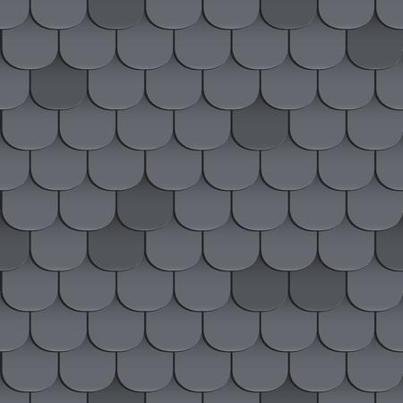 Schindeln Dach nahtlose Muster. Schwarze Farbe. Klassischer Stil. Illustration Vektorgrafik