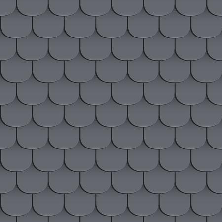 Las tejas del techo sin fisuras patrón. De color negro. Estilo clásico. ilustración Ilustración de vector