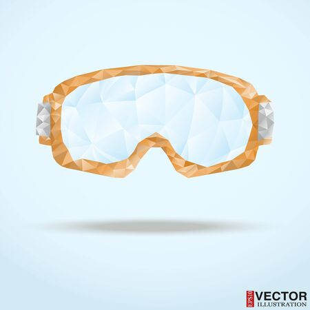 Abstract ski goggles from triangles. Vector Illustration, editable and isolated.