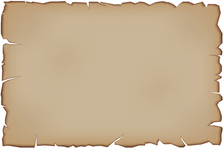 tattered: Old Paper Scroll with tattered edges. Vector illustration Isolated on white background.