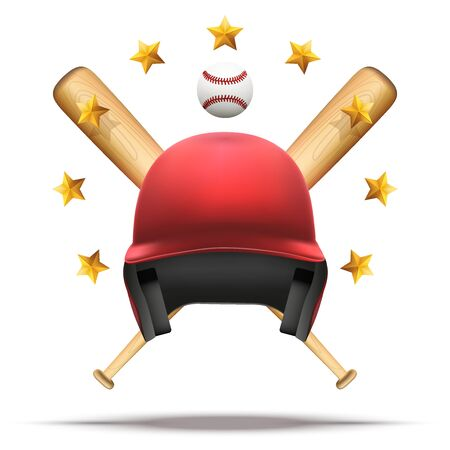 Baseball and Softball symbol Illustration