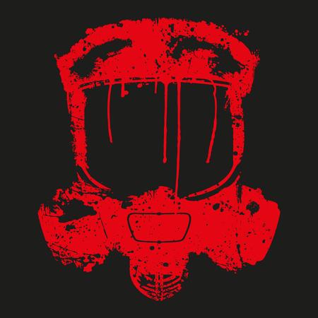 efecto splash máscara de gas