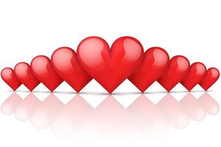 miror: Realistic Red Romantic Hearts Background
