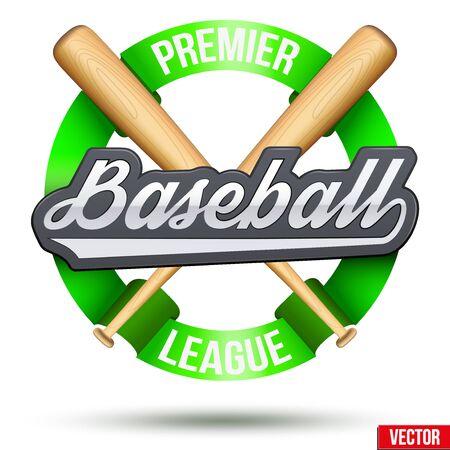 Baseball circle symbol Illustration