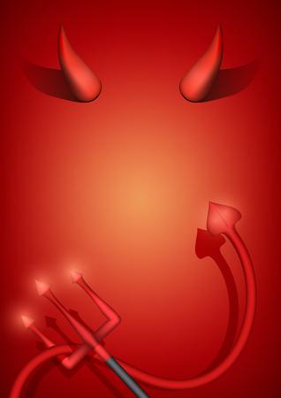 Devil Party Invitation Illustration