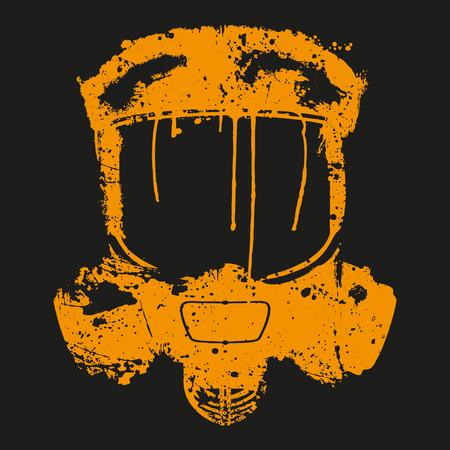 gasmask: gas mask splash effect