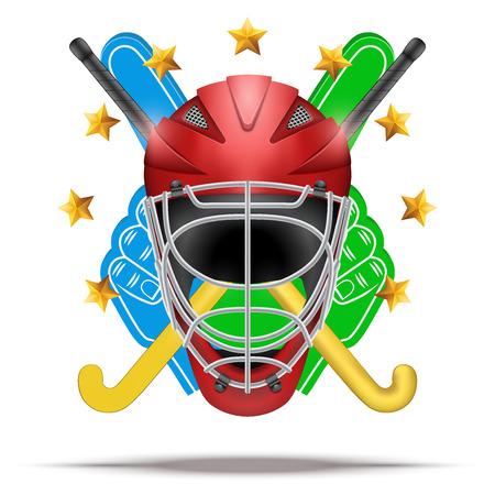 Ice hockey symbol. Design elements Illustration