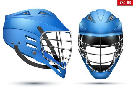 Blue Lacrosse Helmet set Illustration
