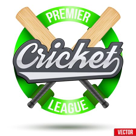 Cricket Sport Label