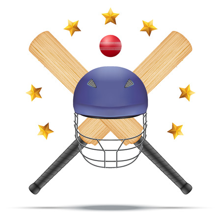 Vector illustration of cricket