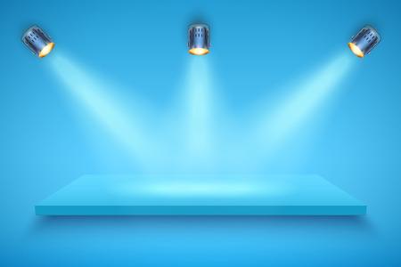 Blue color Presentation platform