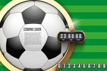 Football Coming Soon and countdown timer.