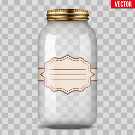 Glass Jar for canning with label