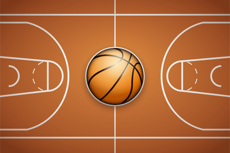 Poster Template of Basketball Ball and field 向量圖像