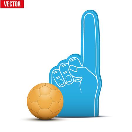 Handball Sports Fan Foam Fingers and ball