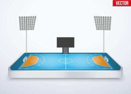 tabletop: Concept of miniature tabletop handball arena